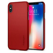 iPhone X Case Genuine Spigen Ultra Thin Fit Slim Exact-fit Hard Cover for Apple Red
