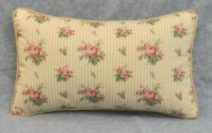 Corded Pillow made w Ralph Lauren Sophie Brooke Yellow Floral Fabric 20x12