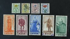 CKStamps: Belgium Stamps Collection Scott#B468-B476 Used