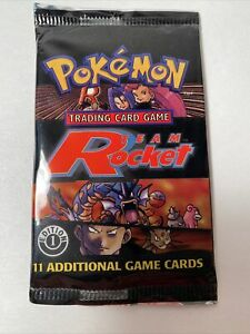 Pokemon Trading Card Game 1st Edition Team Rocket Booster Pack - Unweighed