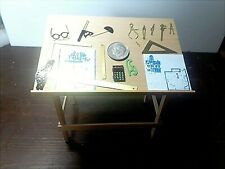 "DRAFTING TABLE W/TOOLS  RARE MINI  1/12"" SCALE DOLL HOUSE MINIATURES"