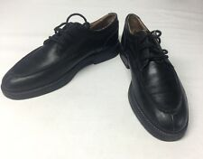 Hanover Zone Lace Up Oxford Black Leather Made in Italy 10.5M