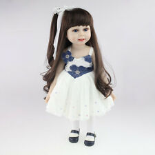 "18"" Long Hair Girl Lifelike Doll Silicone Vinyl Reborn Baby Newborn Toy Kid ,"