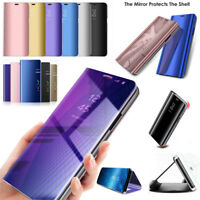 360° Clear View Case Cover Mirror Flip Stand For Huawei P20 Pro/Lite P Smart Lot