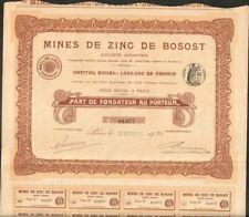 DECO (art nouveau) => Mines de BOSOST (ESPAGNE) (G)