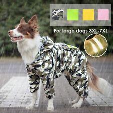 Large Dog Raincoat Waterproof Big Dog Clothes Outdoor Coat Rain Jacket 3XL-7XL