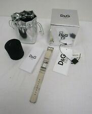 Dolce & Gabbana D&G Time Watch DW0348 Kilt White Strap Watch w/ Box - EAS L57