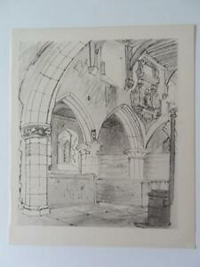 Print St Denis's Faxton Interior by John Piper 1946