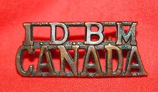 C.E.F. MANITOBA REGT 1st Depot Bttln I.D.B.M/CANADA Title Badge