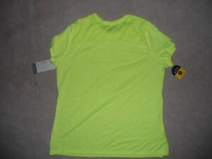 Champion Running Shirt Bright Yellow Reflective Women XL Duo Dry Glow in Dark NW