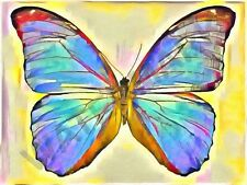 Butterfly Acryllic PITTURA enorme art print poster LLF0792