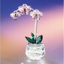 New Crystal World Art Shade Orchid Figurine Miniature