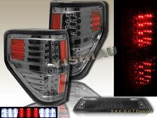 09-2014 Ford F150 XL XLT STX FX4 Pickup LED Smoke Tail Lights + 3rd Brake Light