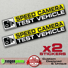 SPEED CAMERA TEST VEHICLE sticker decal funny bumper jdm japan honda nissan audi