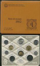 ITALIA DIVISIONALE 1982 ZECCA 10 PEZZI SIGILLATA CON LIRE 500 ARGENTO FDC UNC
