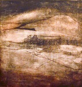"Elaine Schreiber ""Desert Night"" Fine Art Etching Hand Signed Artwork MAKE OFFER!"