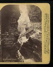 Stereoview 1870 Whirlwind Gorge Watkins Glen NY William T Purviance Philadelphia