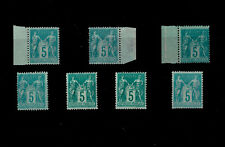 FRANCE ** n° 75 / 7 exemplaires / MNH / TYPE SAGE / TTBE
