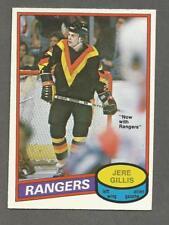 1980-81 O-Pee-Chee OPC Hockey Jere Gilles #283 Canucks Rangers NM/MT