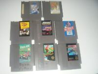 Nintendo (NES) Games lot of 8: Top Gun Track & Field II R.C. Pro Am Jeopardy