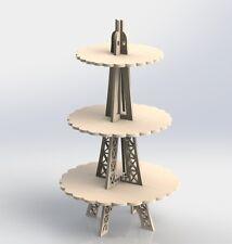 Eiffel Tower for Sweets DXF Files Vectors MDF CNC Router Laser Plans ArtCam 071