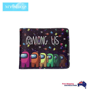 Boys Girls Children Teen-ages Faux Leather Bifold Slim  Wallet - AMONG US 2