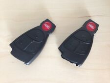 2 X MERCEDES BENZ REMOTE KEYLESS FOB CASE WITH PANIC BUTTON & LOGO