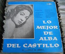 ALBA DEL CASTILLO LO MEJOR EL RUISEÑOR DE AMERICA COLOMBIAN LP