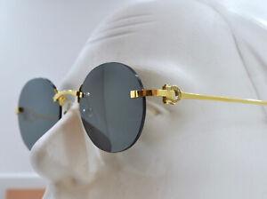 CARTIER Rimless Hegoa glasses C Decor Frame Sunglasses Custom Diamonds VS New