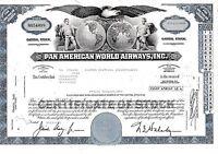Pan American World Airways Aktie USA Fluglinie Luftfahrt Transport Pan Am 1975