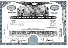 Lot 10 Pan American World Airways Aktie USA Fluglinie Luftfahrt Transport Pan Am