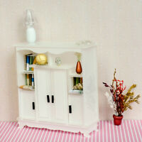 1:12 Dollhouse Miniature Doll Furniture Wooden Brown Display Cabinet Cupboard,