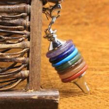 Cn _ Moda Unisex Sintético Cristal Cuarzo 7 Chakra Péndulo Colgante para Collar