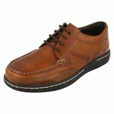 Round 100% Leather Regular Size Casual Shoes for Men