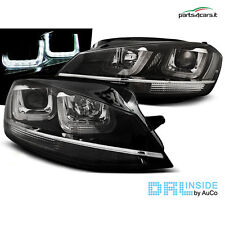 Fari anteriori con luci diurne LED per Volkswagen Golf 7 dal 2012 coppia fanali