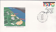 1988 World EXPO '88 Brisbane FDC - 9 August Singapore National Day