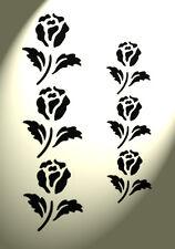 ROSE Stencil 2 dimensioni Shabby Chic Rustico Stile Vintage Fiore a4 297x210mm