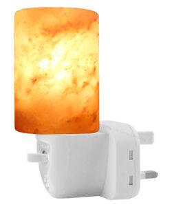 Natural Himalayan Pink Rock Salt Lamp Ionising Salt Night Light UK Plug & Bulb