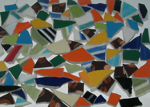 Broken China Plate Mosaic Tiles, 100 Mix Color & Shape Very Small Hand-cut Tiles
