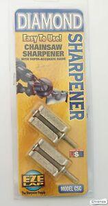 """Eze-lap 3/16"""" Diamond Chainsaw File Sharpener +Precision Guide X 2.  CSG316/2"""