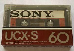 SONY UCX-S 60 Type II Cassette Tape (Sealed)