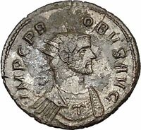 PROBUS on horse 280AD Silvered Authentic Ancient Roman Coin  i40682