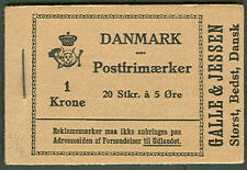 DENMARK (HRE13) Galle & Jessen Booklet, VF
