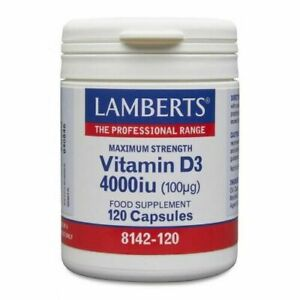 Lamberts Vitamin D3 4000iu (100ug) Capsules (120) BBE 09/2022 FREE UK POSTAGE