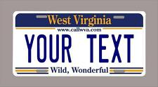 """WEST VIRGINIA custom novelty license plate-your name or text 6""""x12"""""""