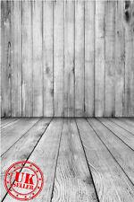 En Bois Blanc Mur Sol Enfants Toile de Fond Fond Vinyle Photo Prop 5X7FT 150x220CM