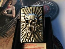 COLLECTABLE ZIPPO ( SCREAMS OF SAND ) EMBLEM LIGHTER WITH CHROME FINISH - NIB