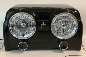 CROSLEY Clock Radio Collector's Edition CR52 AM/FM Cassette STATIC! PARTS ONLY!