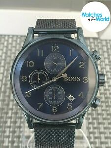Hugo Boss Mens Navigator blue 1513538 Watch new with warranty