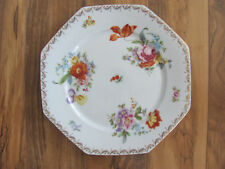 "Tirschenreuth Bavaria-Old Meissen-Floral Pattern-Polygon 11 1/2"" Serving Platter"